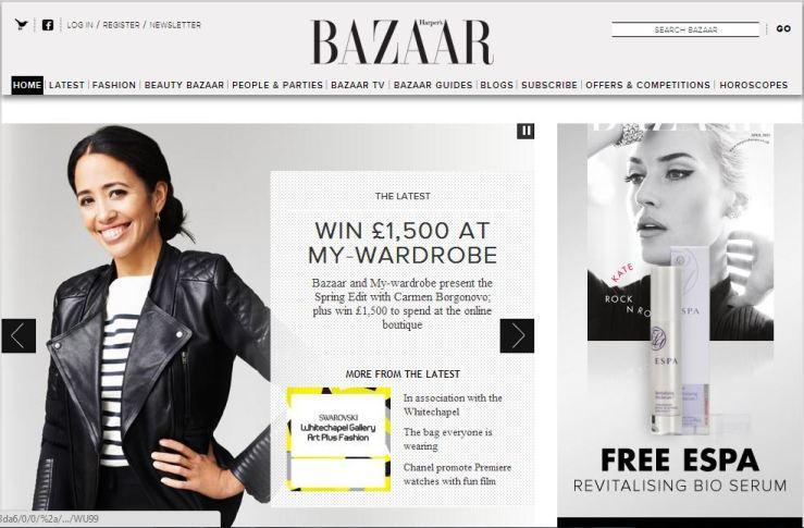 harper's bazaar home page