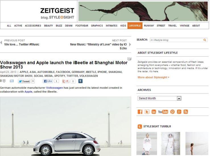 stylesight zeitgeist blog - volkswagen and apple